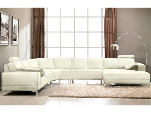 Canapé panoramique blanc
