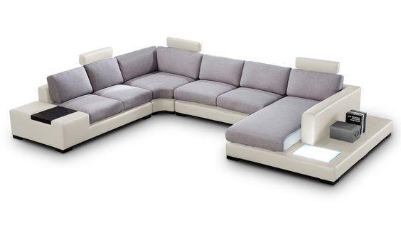canapé d'angle style contemporain